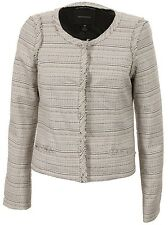 MAISON SCOTCH CREAM NAVY SPARKLE TWEED BOUCLE JACKET BLAZER 4 L 14 42 £180!