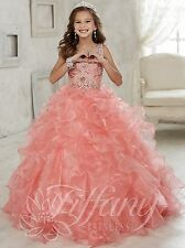 Ball Gown Formal Occasion Girl kids Pageant Dress Bridemaids Prom Party Princess