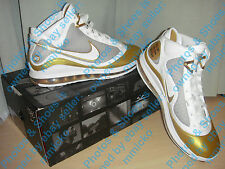 LeBron 7 VII - MVP White & Gold - Size 10.5 (PLEASE READ CAREFULLY BEFORE OFFER)