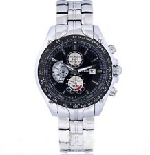 Mens Sports Watch -  Stainless Steel Silver