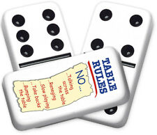 Greeting Series Table Rules Design Double six Professional size Dominoes