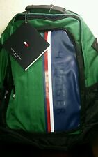 TOMMY HILFIGER BACKPACK LUGGAGE green black  AUTHENTIC College School Travel