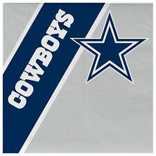 Dallas Cowboys Disposable Napkins - 20 Pack [NEW] NFL Party Tailgate