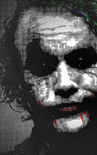 Lámina-Black And White Joker De Batman (imagen Heath Ledger Movie)