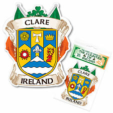 Clare Ireland County Decal Sticker Irish GAA Auto