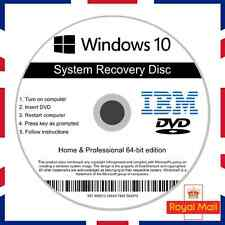 IBM Windows 10 Home & Professional Recovery Repair Install Boot Disc Software