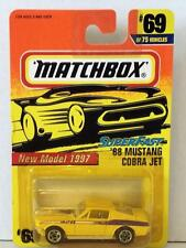 MATCHBOX 65 MUSTANG FASTBACK #69 MINT ON CARD DIECAST YELLOW 1997