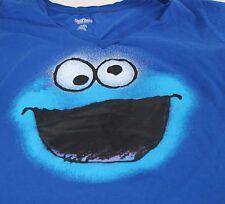 Sesame Street Cookie Monster Men's Blue T Shirt Size XL