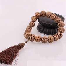 Huge Tassel Big 19 Old Raw Dragon Eye Bodhi Seed Prayer Beads Mala Rosary -9""