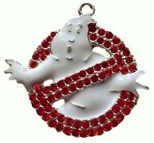 "Ghostbusters NO GHOST Logo Rhinestone Pendant Necklace with 16"" Chain"