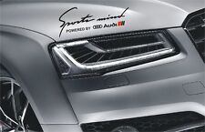 Audi Sports Mind S-line Aufkleber Logo A1 A2 A3 A4 A5 A6 A7 A8 Q3 Q5 Q7 TT R8 S4