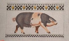 Liz / S. Roberts Spotted Sow Pig Handpainted Needlepoint Canvas