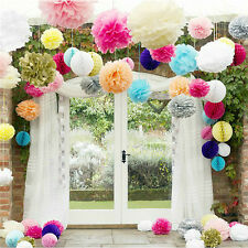 5xWhite Paper Tissue Pom Poms Balls for Wedding Home Party Decoration Lantern WB