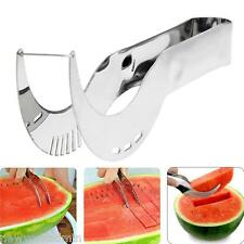 Watermelon Slicer Server Knife Cutter Corer Scoop Stainless Steel Tool