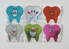 12 Tooth Teeth Foil Stickers Dental Dentist Dr Office Patient Kid Reward Supply