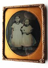 AMBROTYPE PHOTO1/4 FRATRIE ENFANTS SOEUR PHOTOGRAPHIE ANCIENNE P59