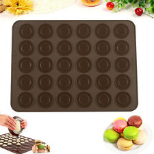 Silicone Pastry Cake Macaron Macaroon Oven Baking Mould 30-cavity Sheet Mat