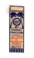 Vintage 1947 Professional Baseball Leagues 46th ANNUAL CONVENTION BADGE-RIBBON