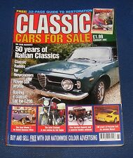 CLASSIC CARS FOR SALE FEBRUARY 2002 - 50 YEARS OF ITALIAN CLASSICS
