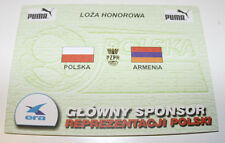 OLD TICKET INVITATION  World Cup 2002 q * Poland - Armenia in Warsaw