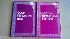 WWII Soviet Germany diplomacy relationship  1939 -1941 Documents In Russian 1983
