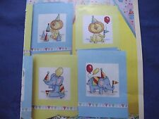 PARTY ANIMALI 6 divertente animale AMICO CARDS per i figli più giovani cross stitch chart