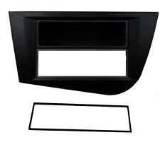 Façade cadre réducteur noir autoradio pour SEAT Leon 2 2005-2011