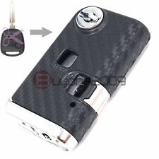 2 Button Modified Flip Remote Key Shell for Toyota Camry 3D Carbon Fiber Sticker