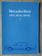MERCEDES 280 S SE SEL orig 1980 allemand MKT prestige Brochure Prospekt-CLASSE S