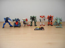 MOBILE SUIT GUNDAM. 8CM. COMPLETE 7 FIGURE SET. JAPAN IMPORT.  QUICK DELIVERY.