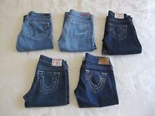 Lot Of 5 Womens Jeans True Religion & Citizen Of Humanity Capri Cropped EUC 25