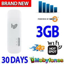 BRAND NEW ★ TELSTRA 4G USB + WiFi PLUS WIRELESS BROADBAND ★ 3GB DATA FOR 30 DAYS