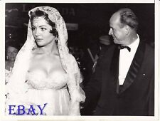 Director Anthony Mann w/wife Sarita Montiel VINTAGE Pho candid 1958 Venice Italy