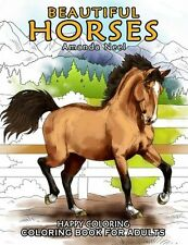 NEW Beautiful Horses - Coloring Book for Adults by Happy Coloring