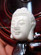 Natural White Turquoise Bead Chinese Carved Stone Lucky Amulet Buddha Pendant