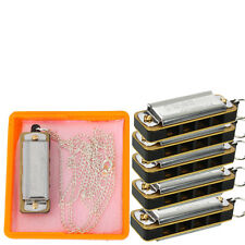 LOT5 x Cute Swan Mini Harmonica 4-Hole 8-Tone With Necklace Silver+ Box
