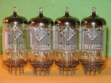 Matched Quad Telefunken 12AX7 ECC83 Smooth Plates Vacuum Tubes 1962 V Strong