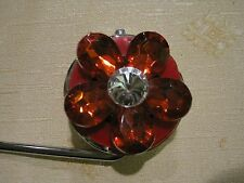 "Jeweled Cupcake Tabletop Bag Hanger ""Red Daisy"", Signed, Numbered, COA"