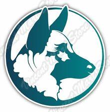 "German Shepherd Dog Pet Car Bumper Vinyl Sticker Decal 4.6""X4.6"""
