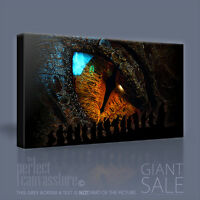 THE HOBBIT SMAUG EYE ICONIC LORD OF THE RINGS CANVAS ART PRINT by Art Williams