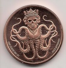 "1 Oz. Fine Copper Bullion Round ""The Kraken Queen"" Only One On eBay"