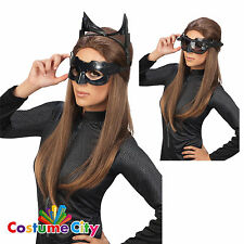 Womens Official Dark Knight Catwoman Goggles Mask Batman Fancy Dress Accessory