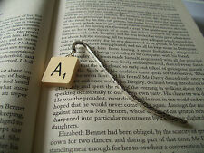 SCRABBLE Bookmark with Choice of Letters A-N in an Organza Gift Bag