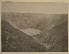 Hawaii the Big Island Poli-O-Keawe Near Kilauea Antique Engraving 1883
