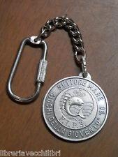 Vecchio portachiavi medaglia GIOCHI DELLA GIOVENTU FIPS 90 Settore Mare pesca di
