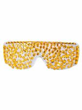 Brille Lady Diamond Gold Spaß Fasching Partybrille