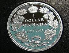 1911-2011 Canada PROOF STERLING SILVER DOLLAR Coin – VERY SCARCE GEORGE V $1.00!