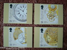 PHQ Stamp card set FDI No 150 Marine Timekeepers 1993. 4 card set Mint Condition