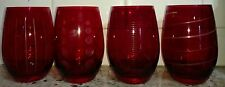 Mikasa Cheers Ruby Set of 4 Stemless Wine Glasses