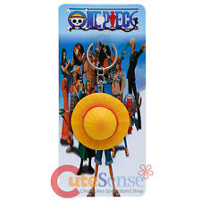 One Piece Luffys Hat Key Chain Color Straw 3D PVC Key Holder